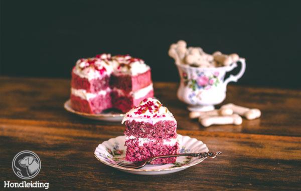 Pink banana cake